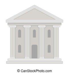 bâtiment, style, théâtre, théâtre, symbole, isolé, ...