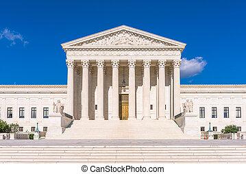 bâtiment, suprême, uni, tribunal, usa., washington dc, etats