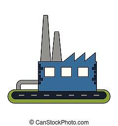 bâtiment, symbole, factoy