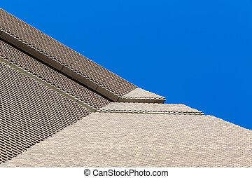 bâtiment, tate moderne, extérieur, nouveau
