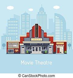 bâtiment, théâtre film