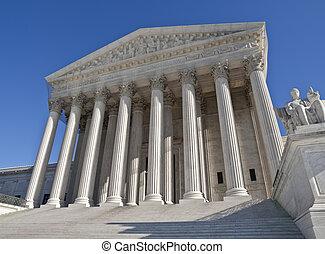 bâtiment, tribunal, suprême, washington dc