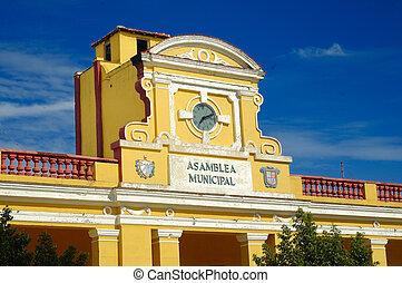 bâtiment, trinidad, typique, cuba