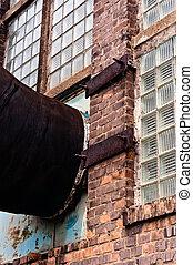 bâtiment, tuyau, ventilation, industriel, connecté