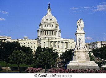 bâtiment, uni, capitole, -, washington dc, etats