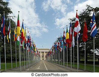 bâtiment, uni, genève, geneva--united, nations, onu,...
