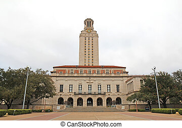 bâtiment, université, principal, austin, campus, texas