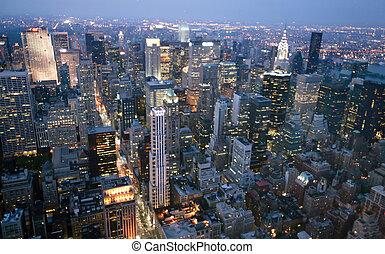 bâtiment, usa, état, york, nouveau, empire