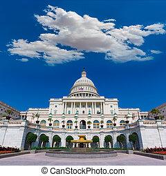bâtiment, usa, capitole, congrès, washington dc