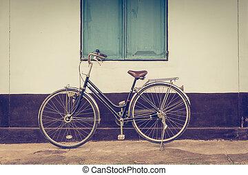 bâtiment, vendange, vélo, fond