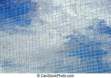 bâtiment, verre, constitué