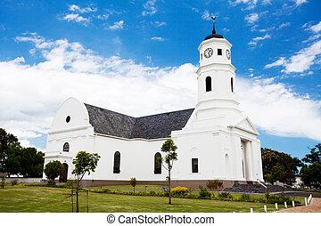 bâtiment, vieux, afrique, église, george, sud