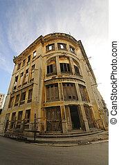 bâtiment, vieux, havane, abandonnés, cuba