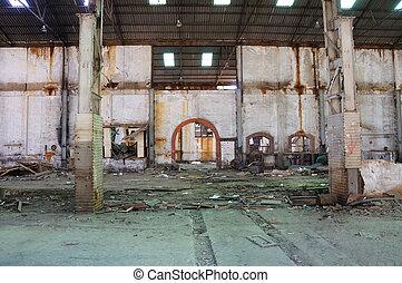 bâtiment, vieux, mining-industrial