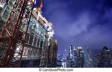 bâtiment, ville, constructio, sous