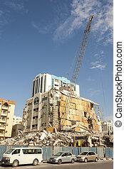 bâtiment, ville, démolition