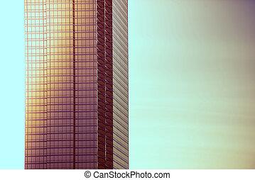 bâtiment, vitreux, moderne