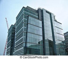 bâtiment, vitreux