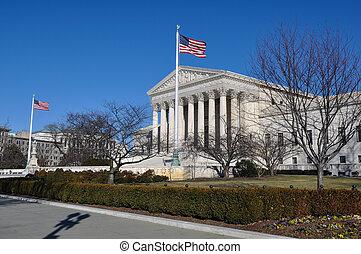 bâtiment, washington, cour suprême, dc