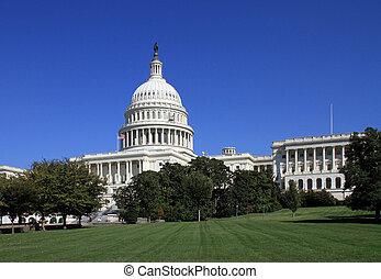 bâtiment, washington, dc, capitole