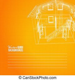 bâtiment, wireframe