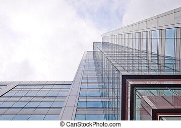 bâtiment, yeux, ver, bureau, vue