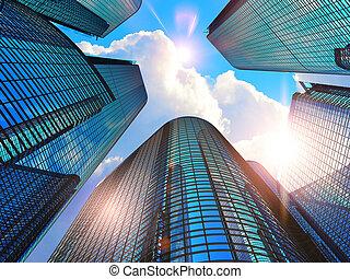 bâtiments, affaires modernes