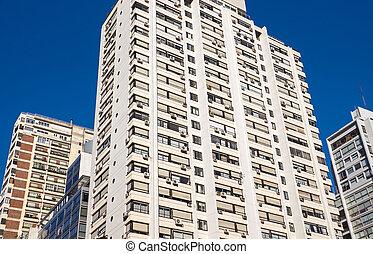 bâtiments, appartement, aires, buenos