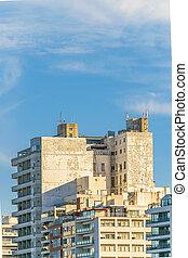 bâtiments, appartement, vue extérieure