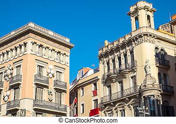 bâtiments, barcelone