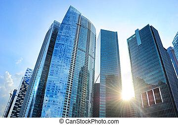 bâtiments, bureau, singapour