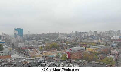 bâtiments, cityscape, toits