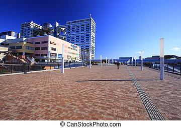 bâtiments, daiba, autour de
