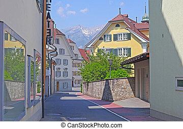 bâtiments, dans, swizerland., howk, ville, europe