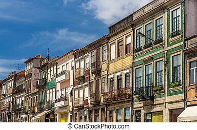 bâtiments, district, portugal, résidentiel, campanha, porto