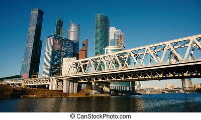 bâtiments, gratte-ciel, business, moscou, centre, complexe, plus grand, ville