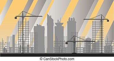 bâtiments, industrie, infographics
