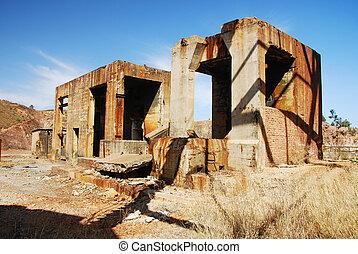 bâtiments, industriel, mine