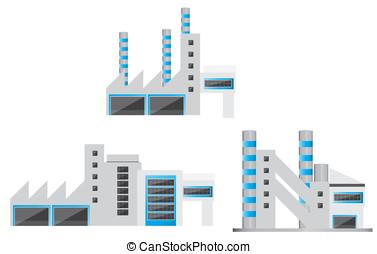 bâtiments, industriel, moderne