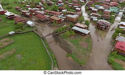 bâtiments, infrastructure, , myanmar, nampan
