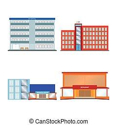 bâtiments, isolé