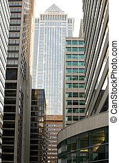 bâtiments, philadelphie, bureau