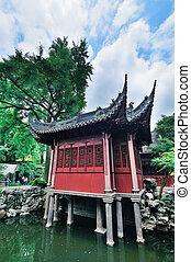 bâtiments, shanghai, vieux