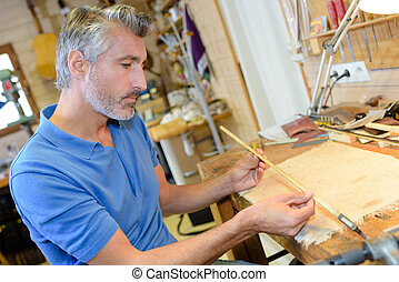 bâton bois, inspection