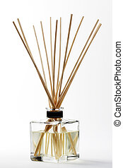 bâtons, une, diffuseur, arôme, bambou, monté