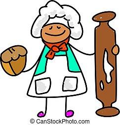 bäcker, kind