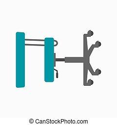 bärbar, stol, höjd, tandläkare, inställbar