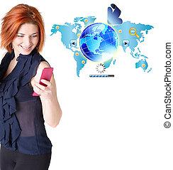 bäst, internet, koppla samman, mobil