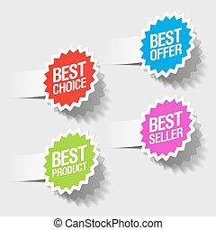bäst, val, bäst, erbjudande, märken