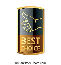bäst, val, emblem
